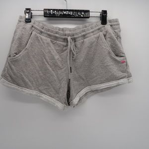 Pink Lotus Gray Lounge Sleep Shorts Size Large